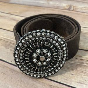 Fossil boho festival western genuine leather belt
